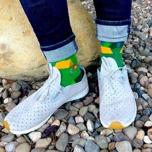 Native Apollo Moc Gray Suede Athletic Shoes